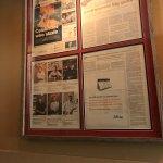 Menu and inside restaurant