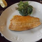 Rainbow trout fillet, the veggies were on the side