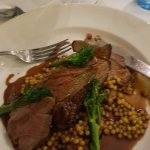 Lamb with giant cous cous