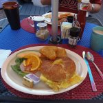 Breakfast Special on croissant at D Best Cup, West End, Tortola, BVI
