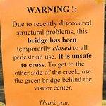 sign on bridge