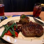 Ribeye (bone-in), with The Brown Jug draft beer