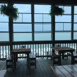 Newport News VA Crab Shack Restaurant, covered deck outdoor dining area, 9-14-17