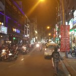 nightlife street, right in front