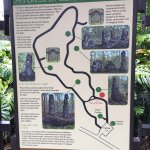 Informational sign in Lava Tree State Park