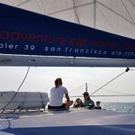 Out on the water - view from the sailboat