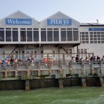 Out on the water - view of Pier 39 from the sailboat