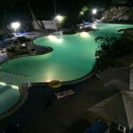 Main Avlida Pool at night.