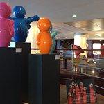 L'exposition dans le lobby