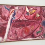 Unusual red/pink painting