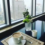 The best coffee ever!! Photo taken from the 26th floor.