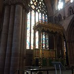 A beautiful tained glass window in Carlisle cathedral