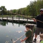 Pole fishing.