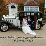 To hire this car contact Graham George - this was our sons wedding at Wethele Manor