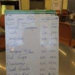 Italian wine list at Capriccio di Mare, Road Town, Tortola