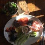 Seafood Platter, side salad & crusty bread