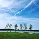 Overlooking the lake at Shelby Farms