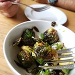 Delicious fried Brussel sprouts