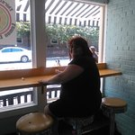 kris enjoying icecream