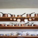 Copper pans in the kitchen, Holmwood House