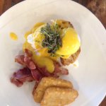 Everything was great! Eggs bene, side of hash & the potato hash cake-yum!