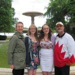 At Trafalgar fountain - east of the Legislative building