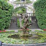 Fountain in entry garden.