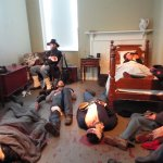 Re-creation of Wounded at Seminary Hospital