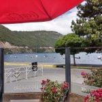 Vista al lago desde el restaurant
