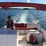 Driving the Pontoon Boat!