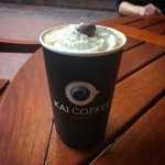 Kai latte from Kai Coffee downstairs in the hotel.