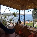 Balcony of room 11 with stunning views of Lake Titicaca