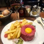 Steak tartare and cheese plate
