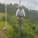 Skycycle ride at Eden Nature Park