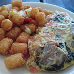 朝食ハワイアンオムレツハーフサイズ