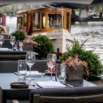 The terrace of the Amstel Bar & Brasserie
