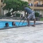 I am in pool