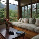 lounge overlooking the forest