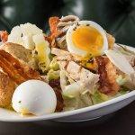 Caesar salad - Chicken, anchovies, bacon, softboil egg, parmesan