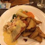 Salmon Oscar with too many Potatoes