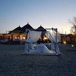 vista del ristorante dalla spiaggia