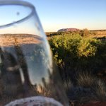 Viewing the sunset with a glass of bubbly!