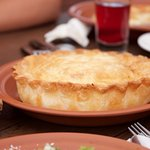 A cheese pie, wonderfully salted