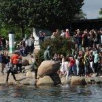 Mermaid from water; always a crowd