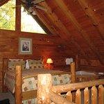 Mountain Laruel cabin--one bedroom was in loft upstairs.