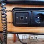 antiquated power plugs in suite