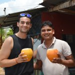 With my ever friend Angel from Spain drinking King Coconut.