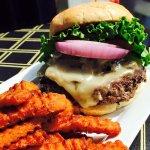 Bull Burger & Sweet Potato Fries