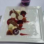 Dessrt figues, sorbet yuzu, meringue et crumble