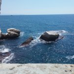 The sea from a 'window' in the grotto